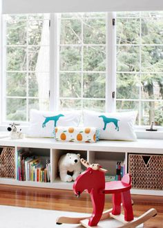 lack shelf turned sideways = window seat