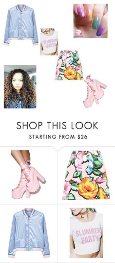 """""""ModernDaySpiceGirl"""" by dijourflanagan ❤ liked on Polyvore featuring Y.R.U., Love Moschino, MANGO, WithChic, OPI and modern"""