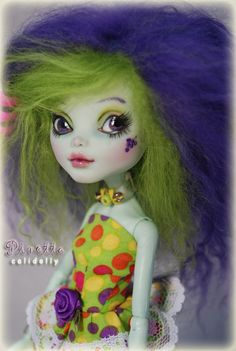OOAK Custom Monster High Art Doll - Grape NERD. $ 115.00, via Etsy. STUNNING faceup and colours