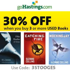 Used Books : 30% off 3 or more + 99¢ S/H