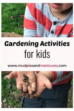 Gardening is a great way to engage kids in sensory play! Nature sometimes provides the best sensory experiences especially when you're growing your own food. Here are some easy ideas to get your kids playing and learning in the garden! Preschool Activities, Outdoor Activities, Nature Activities, Nutrition Activities, Outdoor Learning, Spring Activities, Outdoor Play, Family Activities, Childhood