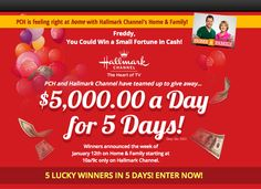 Danielle Lam from Publisher's Clearing House shared this on her Facebook page (Smiles)...Have you heard  about the latest #HolidaySweepstakes #Opportunities ! #PCH and the #HallmarkChannel are teaming up to bring holiday cheer to some #Lucky #Winners that's right the Hallmark Channel (Smiles)