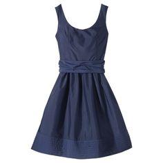 Women's Scoop Neck Taffeta Dress w/Removable Sash -Plum Spice