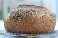 "-Multi-grain Boule- a ""dutch oven"" sourdough bread"