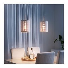 IKEA - NYMÖ, Lamp shade, Create your own personalized pendant or table lamp by combining the lamp shade with your choice of cord set or lamp base.Creates a decorative light pattern in the room when the light shines through the perforated shade.