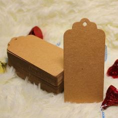 Set of 20 Kraft Gift Tags-Hang Tags-Price Tags-Blank-Craft Punch With Rope bake sale tags kraft card craft card on Etsy, £1.50
