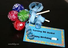 Turning 30 Sucks Birthday idea