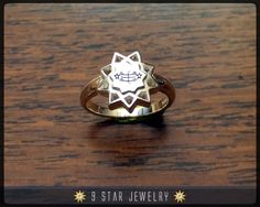 BRS12 Sterling Silver Baha'i Ringstone Symbol Ring by 9 Star Jewelry #bahai #bahairings #bahaipendants #bahaijewelry #9starjewelry