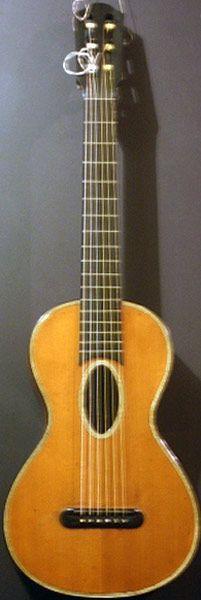 Early Musical Instruments, antique Romantic Guitar by Etienne Laprevotte 1844