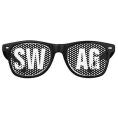 26dfd912becd8  SWAG  Black and White Party Retro Sunglasses - birthday gifts party  celebration custom gift