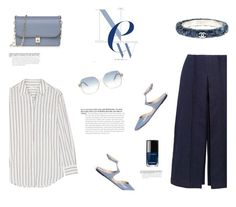 """""""NEW BLUE"""" by canvas-moods ❤ liked on Polyvore featuring Chanel, Equipment, Zeus+Dione, Valentino and Victoria Beckham"""