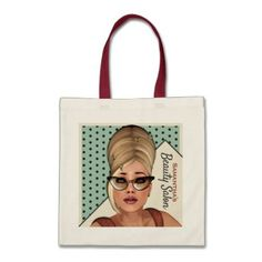 Funny Retro Sixties Hair And Beauty Tote Bag - girly gifts girls gift ideas unique special