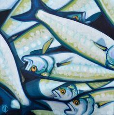 Bluefish Painting by Carin Vaughn. Art. Fish