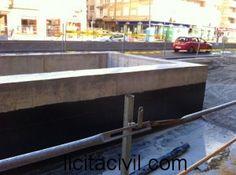 Detalle impermeabilización del acceso a la parada de Méndez Núñez, metro Granada.