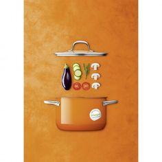 Silit Passion Orange - pomarańczowe garnki bez niklu! garnki dla alergików, kolorwa kuchnia, nowoczesna kuchnia
