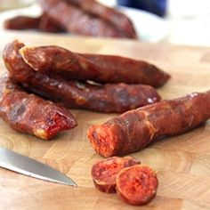 Pork and potato sausages - an old Italian recipe, rediscovered! mmm dried sausage....mmmmm