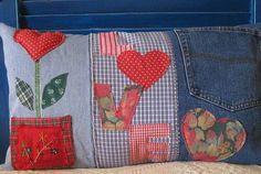 Almohadón de jeans