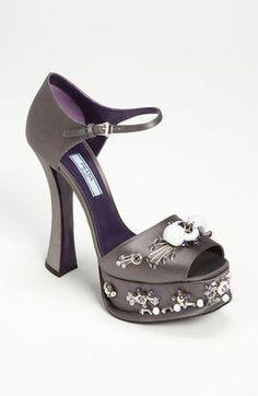 Prada Beaded Platform Sandal