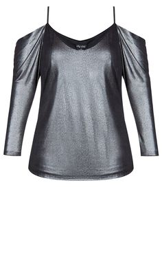 4a02717ab43 Style By Trend  Refinity City Chic - TOP METALLIC HEART - Women s Plus Size  Fashion