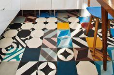 Purpura - patchwork of handmade cement tiles