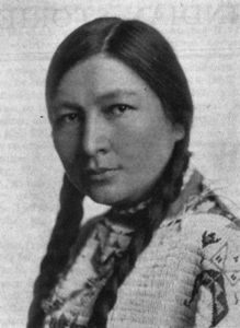 Zitkala-Sa. 1876-1938 Born Yankton Sioux Agency, SD. Speaker, Musician. Graduated Earlham College and studied at Boston Conservatory of Music.
