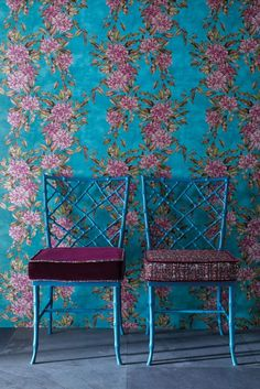 Stunning floral wallpaper design by Osborne and Little.