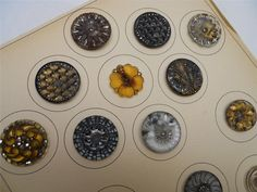 Card of 20 Super Antique Victorian Buttons Lacy Glass Advanced Collection | eBay