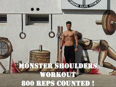 Grow MONSTER SHOULDERS ! | 800 reps | Workout |  petrifitness.com  https://youtu.be/POuW5-5io54