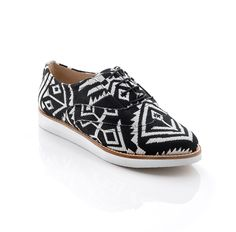 Frankie Printed oxfords...these are on sale for $39.99. But, you can also get 30.00 off of your first purchase. Sizes 5.5 through 7.5 available...jump on this deal now :)