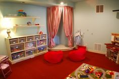 Stage in playroom kid-stuff