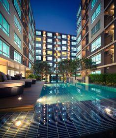 Swimming pool @dcondo Nernpra Rayong by Sansiri