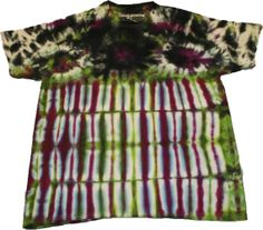 Steezy Purple Green & Black TieDye Tee large by SteezyWorkz, $16.00