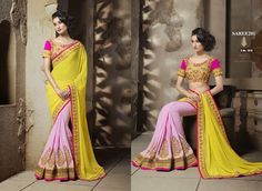 Indian Traditional Embroidered saree Visit@ www.craftnfashion.com