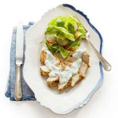 Seared Chicken with Lemon-Herb Yogurt Cream Sauce