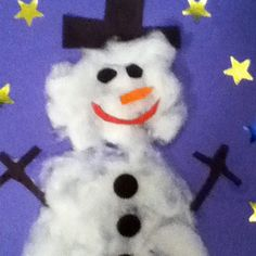 Simple DIY Christmas Craft Ideas for Kids - Snowman Christmas Card - Click PIN for 25 Holiday Decoration Ideas