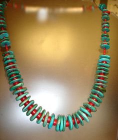 Turquoise Coral Necklace silver by MonicaDesignsJewelry on Etsy