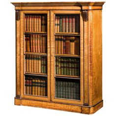 Early 19th Century Birch Bibliotheque | From a unique collection of antique and modern cupboards at http://www.1stdibs.com/furniture/storage-case-pieces/cupboards/