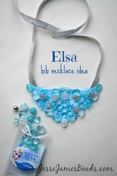 Make a Disney Frozen inspired bib necklace