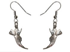 Jaw Bone Jewelry Mouse Bone Earrings White Bronze Jaw Earrings