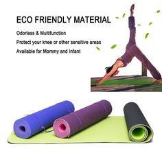 Amazon.com   ATHOON Thick Yoga Mat with Strap 2018 New Eco Friendly Non  Slip Exercise TPE Yoga Mat for Men   Women Dark Blue   Sports   Outdoors 3e5c5659f0130