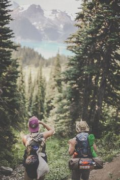Backpacking with friends.