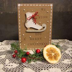 Купить Открытка Давай Покатаемся? - комбинированный, Новый Год, рождество, Открытка ручной работы