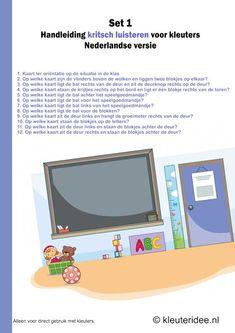 Kritsch luisteren voor kleuters, set 1,  Nederlandse handleiding, kleuteridee.nl .