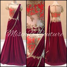 Saree-gown by MischB Couture
