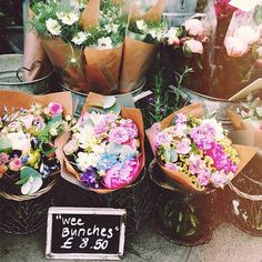 Small scale pike place flower bouquets