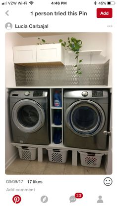 Modern Laundry Rooms, Laundry Room Layouts, Laundry Room Remodel, Laundry Decor, Laundry Room Organization, Laundry Room Design, Laundry Room Pedestal, Farmhouse Laundry Room, Washer And Dryer Pedestal