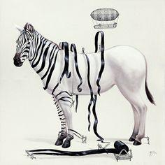 Playful Paintings Suggest How Animals Are Created - My Modern Met.  Artist is Ricardo Solis