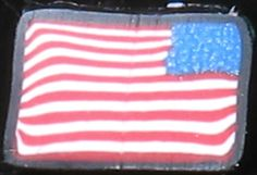 Polymer Clay American Flag Cane
