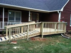 how to build a wheelchair ramp over stairs