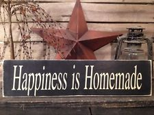 Country Primitive Happiness Is Homemade Sign Farmhouse Decor